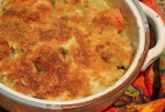 Yam and Swiss Chard or Kale Gratin