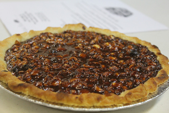 Chocolate Caramel Hazelnut Pie