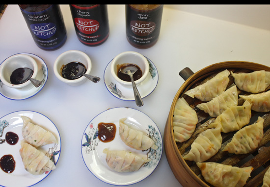 Not Ketchup Sauces were a perfect complement to Steamed Pot Stickers