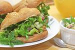 Chicken Satay Burgers with Cucumber Salsa