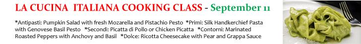 La Cucina Italiana Cooking Class 2 9-11-14