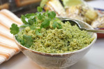 Green Rice with Cilantro and Spinach (Arroz Verde)