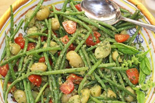 Green Bean, Potato, Tomato and Pesto Salad