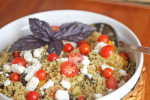 Garden Quinoa with Pesto Sauce
