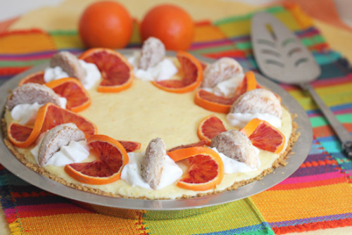 Tangerine Chiffon Pie inspired by Girl Scout cookies