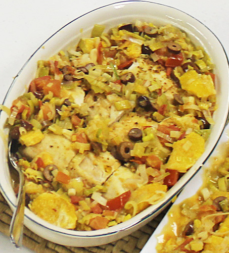Chicken with Oranges, Leeks and Olives – Dinner in a Flash!