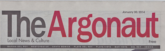 The Argonaut newspaper features our Los Angeles cooking classes.