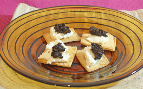 Fresh Ricotta and Fig Canapes