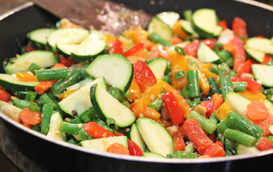 Balti Stir-fried Vegetables with Cashews from India
