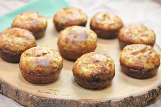 Scallion and Cheddar Popovers make a wonderful treat at a dinner party.