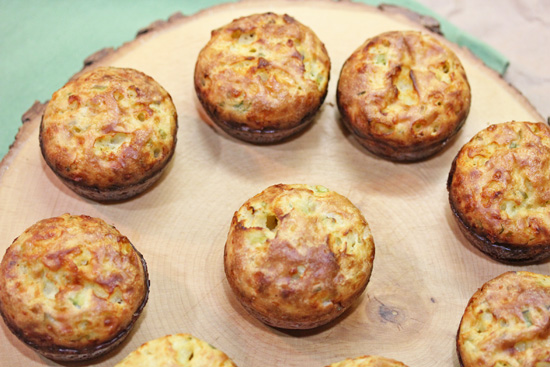 Scallion and Cheddar Popovers are irresistible.