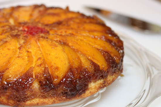 4f2c15bc07 Mango Upside Down Cake with Cajeta-Rum Glaze - Fresh Food In A Flash