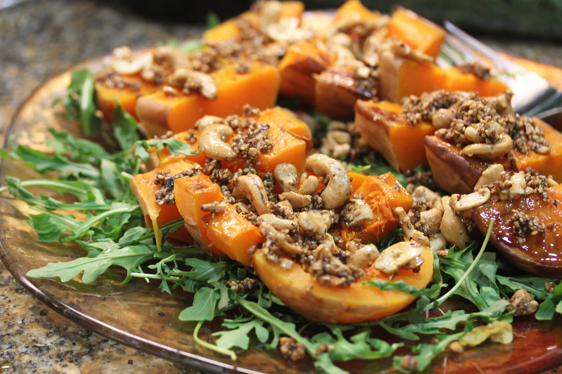 Roasted Butternut Squash with Dukkah