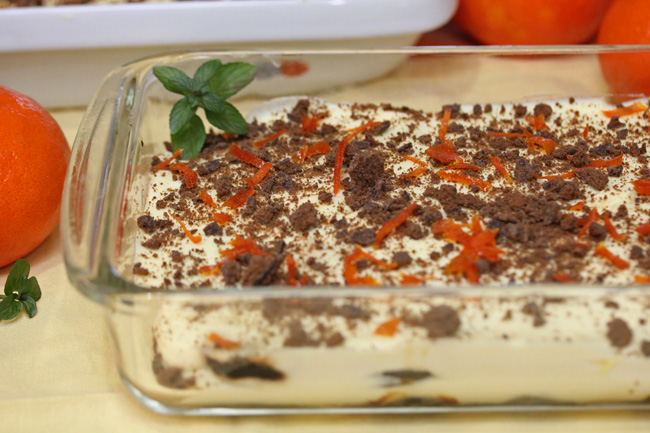 Thin Mint Tangerine Tiramisu from a box of Girl Scout cookies