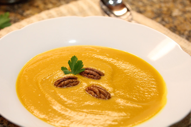 Kabocha Squash Soup recipe at FreshFoodinaFlash.com