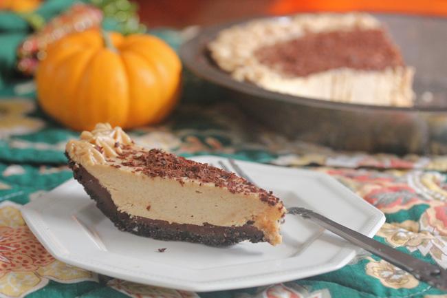 Chocolate Peanut Butter Mousse Pie recipe at FreshFoodinaFlash.com