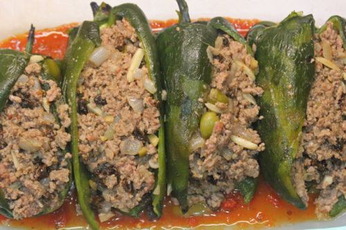 Stuffed Poblano Chiles from Lula's Cocina Restaurant.