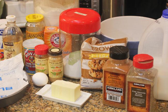 Gingerbread Cake with Strawberries and Caramel Sauce recipe at FreshFoodinaFlash.com