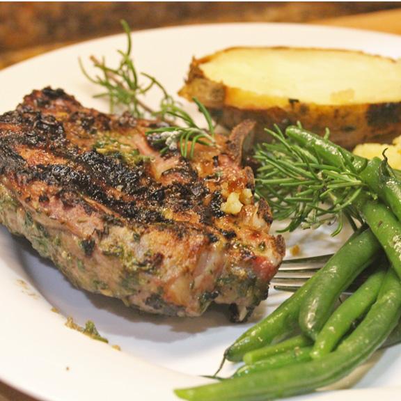 Grilled Lamb Chops with a Rosemary Marinade recipe at FreshFoodinaFlash.com.