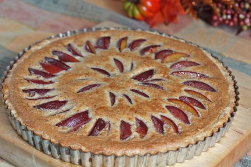 Plum and Almond Frangipane Tart