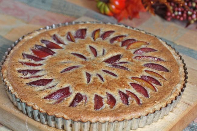 Plum and Almond Frangipane Tart recipe at FreshFoodinaFlash.com