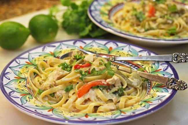 Chicken Tequila Fettuccine recipe at FreshFoodinaFlash.com