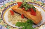 Salmon Bruschetta inspired by the Olive Garden Restaurant