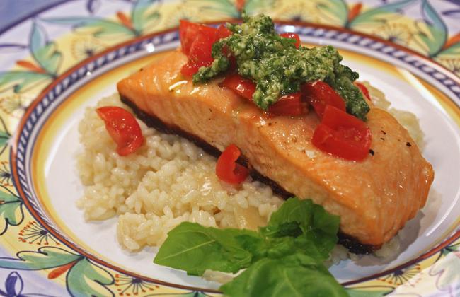 Salmon Bruschetta recipe at FreshFoodinaFlash.com