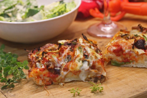 Sheet Pan Pizza with the One Minute Pizza Dough